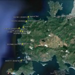 Our dive site locations and co-ordinates on a Google Map.